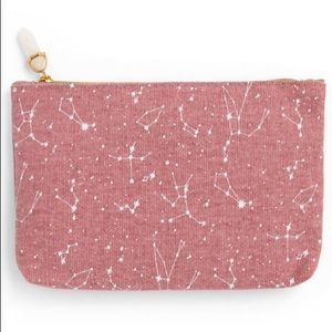 Ipsy constellations bag with crystal zipper pull